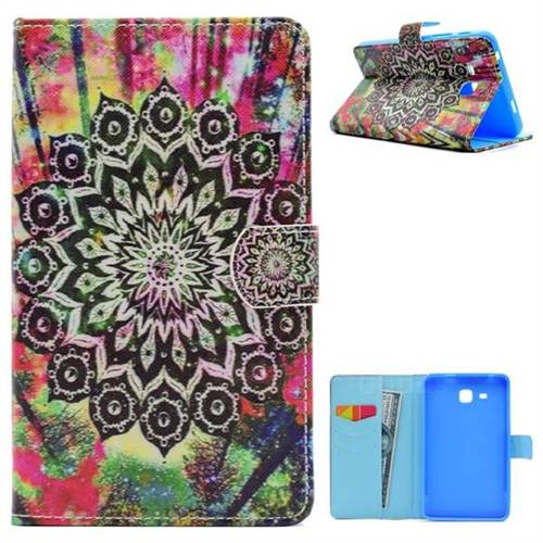 Colorful Folio Flip Stand Leather Wallet Case for Samsung Galaxy Tab A 7.0 (2016) T280 T285