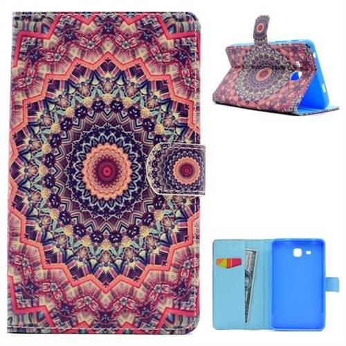 Orange Folio Flip Stand Leather Wallet Case for Samsung Galaxy Tab A 7.0 (2016) T280 T285