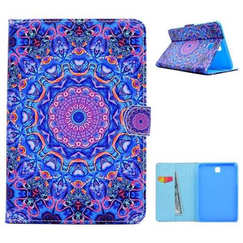 Purple Folio Flip Stand Leather Wallet Case for Samsung Galaxy Tab A 8.0 T350 T355