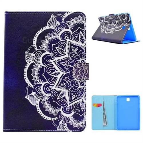 Half Lace Folio Flip Stand Leather Wallet Case for Samsung Galaxy Tab A 8.0 T350 T355