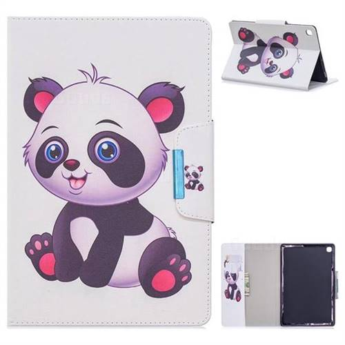 Baby Panda Folio Flip Stand Leather Wallet Case for Samsung Galaxy Tab A 10.1 (2019) T510 T515
