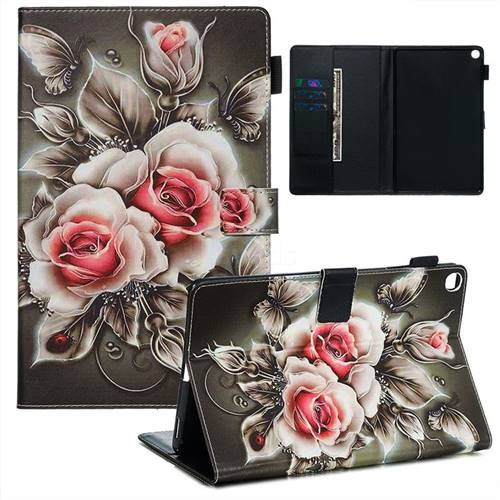 Black Rose Matte Leather Wallet Tablet Case for Samsung Galaxy Tab A 10.1 (2019) T510 T515