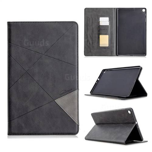 Binfen Color Prismatic Slim Magnetic Sucking Stitching Wallet Flip Cover for Samsung Galaxy Tab A 10.1 (2019) T510 T515 - Black