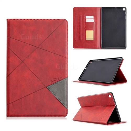 Binfen Color Prismatic Slim Magnetic Sucking Stitching Wallet Flip Cover for Samsung Galaxy Tab A 10.1 (2019) T510 T515 - Red