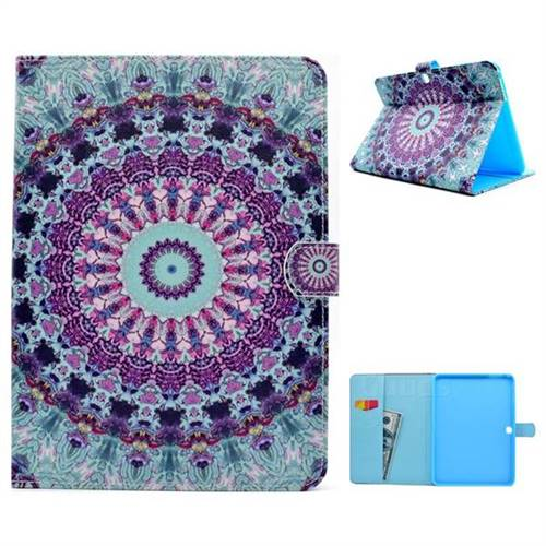 Mint Green Folio Flip Stand Leather Wallet Case for Samsung Galaxy Tab 4 10.1 T530 T531 T533 T535