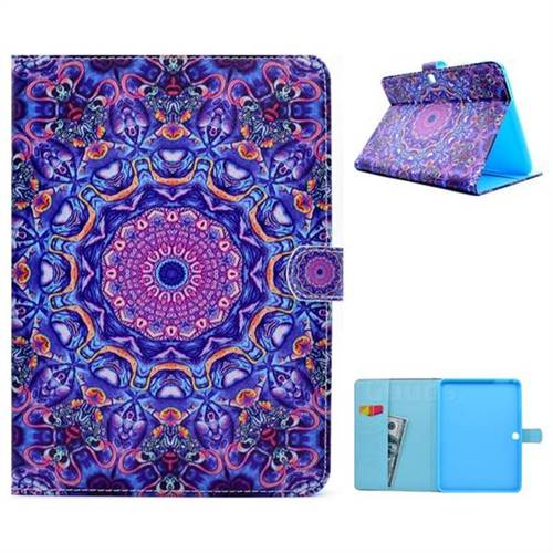 Purple Folio Flip Stand Leather Wallet Case for Samsung Galaxy Tab 4 10.1 T530 T531 T533 T535
