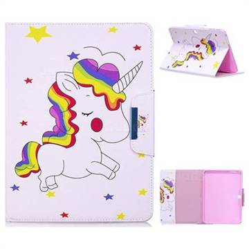 Rainbow Unicorn Folio Flip Stand Leather Wallet Case for Samsung Galaxy Tab 4 10.1 T530 T531 T533 T535