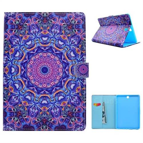 Purple Folio Flip Stand Leather Wallet Case for Samsung Galaxy Tab A 9.7 T550 T555