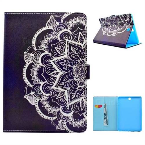 Half Lace Folio Flip Stand Leather Wallet Case for Samsung Galaxy Tab A 9.7 T550 T555