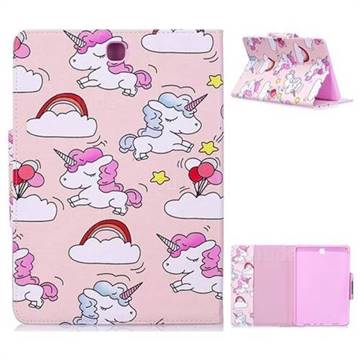 Cloud Unicorn Folio Flip Stand Leather Wallet Case for Samsung Galaxy Tab A 9.7 T550 T555