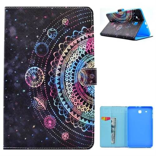 Universe Folio Flip Stand Leather Wallet Case for Samsung Galaxy Tab E 9.6 T560 T561