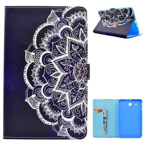 Half Lace Folio Flip Stand Leather Wallet Case for Samsung Galaxy Tab E 9.6 T560 T561