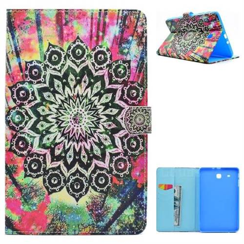 Colorful Folio Flip Stand Leather Wallet Case for Samsung Galaxy Tab E 9.6 T560 T561