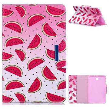 Watermelon Folio Flip Stand Leather Wallet Case for Samsung Galaxy Tab E 9.6 T560 T561
