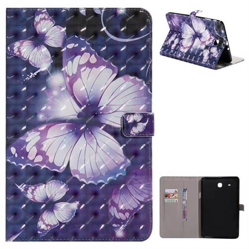Pink Butterfly 3D Painted Tablet Leather Wallet Case for Samsung Galaxy Tab E 9.6 T560 T561