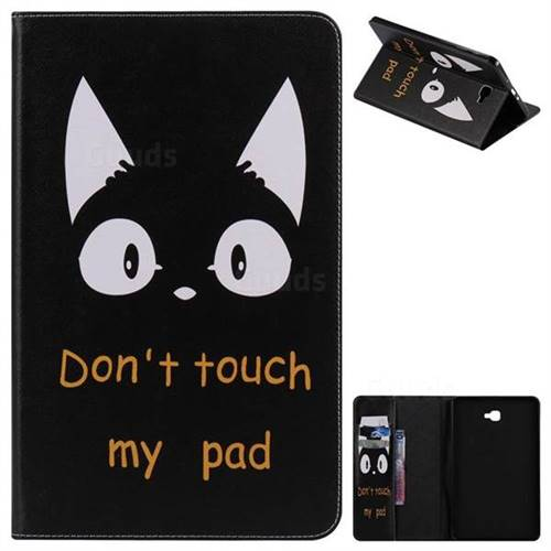 Cat Ears Folio Flip Stand Leather Wallet Case for Samsung Galaxy Tab A 10.1 T580 T585