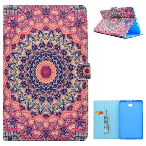 Orange Folio Flip Stand Leather Wallet Case for Samsung Galaxy Tab A 10.1 T580 T585