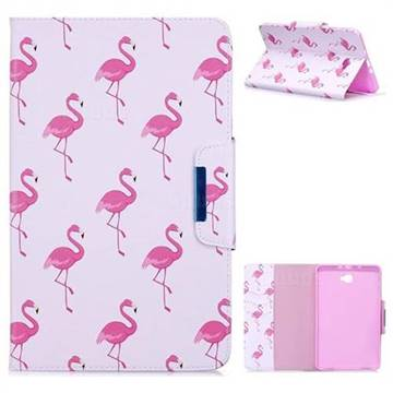 Red Flamingo Folio Flip Stand Leather Wallet Case for Samsung Galaxy Tab A 10.1 T580 T585