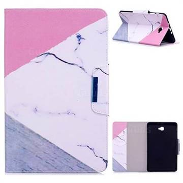Triangle Marble Folio Flip Stand Leather Wallet Case for Samsung Galaxy Tab A 10.1 T580 T585