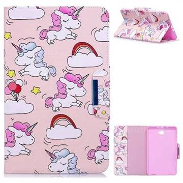 Cloud Unicorn Folio Flip Stand Leather Wallet Case for Samsung Galaxy Tab A 10.1 T580 T585
