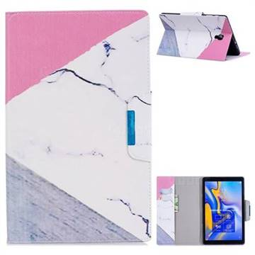 Triangle Marble Folio Flip Stand Leather Wallet Case for Samsung Galaxy Tab A 10.5 T590 T595