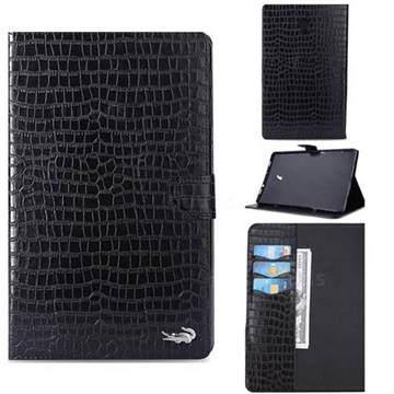 Retro Crocodile Tablet Leather Wallet Flip Cover for Samsung Galaxy Tab A 10.5 T590 T595 - Black
