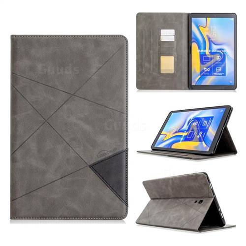 Binfen Color Prismatic Slim Magnetic Sucking Stitching Wallet Flip Cover for Samsung Galaxy Tab A 10.5 T590 T595 - Gray
