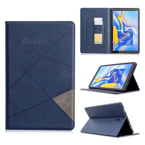 Binfen Color Prismatic Slim Magnetic Sucking Stitching Wallet Flip Cover for Samsung Galaxy Tab A 10.5 T590 T595 - Blue