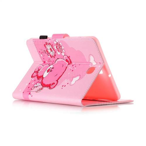 Tiny Pink Bear Folio Flip Stand Leather Wallet Case for Samsung Galaxy Tab S2 8.0 T710