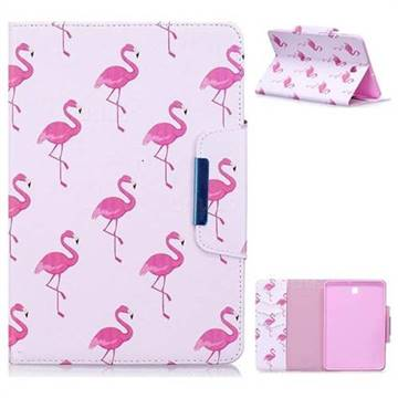 Red Flamingo Folio Flip Stand Leather Wallet Case for Samsung Galaxy Tab S2 8.0 T710 T715 T719