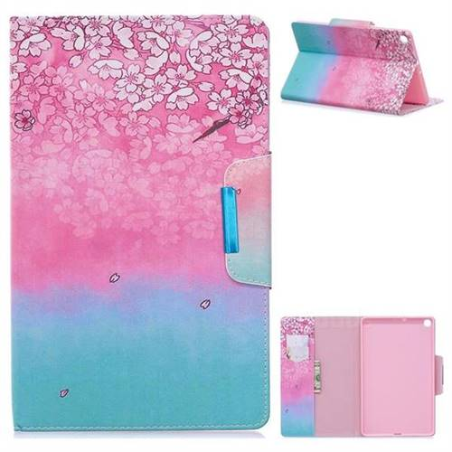 Gradient Flower Folio Flip Stand Leather Wallet Case for Samsung Galaxy Tab S5e 10.5 T720 T725