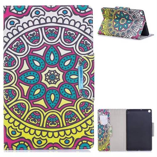Sun Flower Folio Flip Stand Leather Wallet Case for Samsung Galaxy Tab S5e 10.5 T720 T725