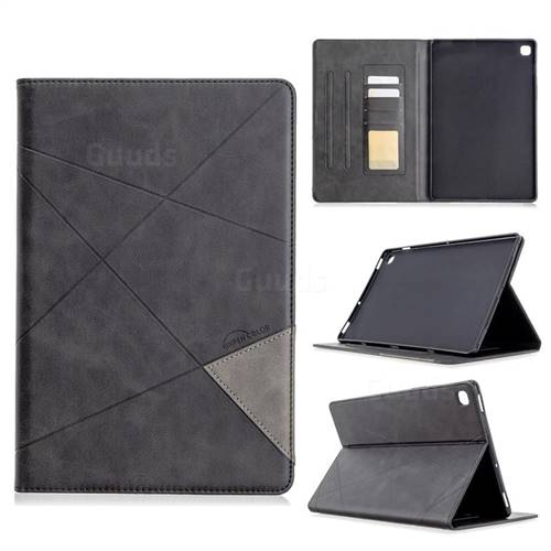 Binfen Color Prismatic Slim Magnetic Sucking Stitching Wallet Flip Cover for Samsung Galaxy Tab S5e 10.5 T720 T725 - Black