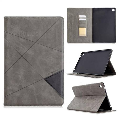 Binfen Color Prismatic Slim Magnetic Sucking Stitching Wallet Flip Cover for Samsung Galaxy Tab S5e 10.5 T720 T725 - Gray