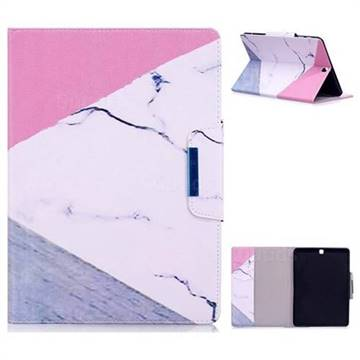 Triangle Marble Folio Flip Stand Leather Wallet Case for Samsung Galaxy Tab S2 9.7 T810 T815 T819
