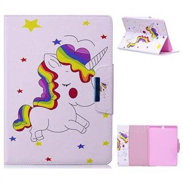 Rainbow Unicorn Folio Flip Stand Leather Wallet Case for Samsung Galaxy Tab S2 9.7 T810 T815 T819