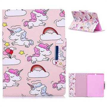 Cloud Unicorn Folio Flip Stand Leather Wallet Case for Samsung Galaxy Tab S2 9.7 T810 T815 T819
