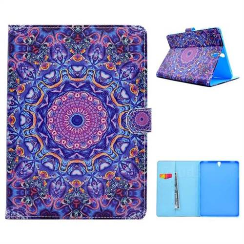 Purple Folio Flip Stand Leather Wallet Case for Samsung Galaxy Tab S3 9.7 T820 T825