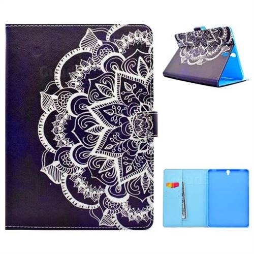 Half Lace Folio Flip Stand Leather Wallet Case for Samsung Galaxy Tab S3 9.7 T820 T825