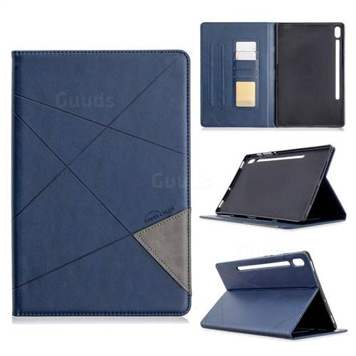 Binfen Color Prismatic Slim Magnetic Sucking Stitching Wallet Flip Cover for Samsung Galaxy Tab S6 10.5 T860 T865 - Blue