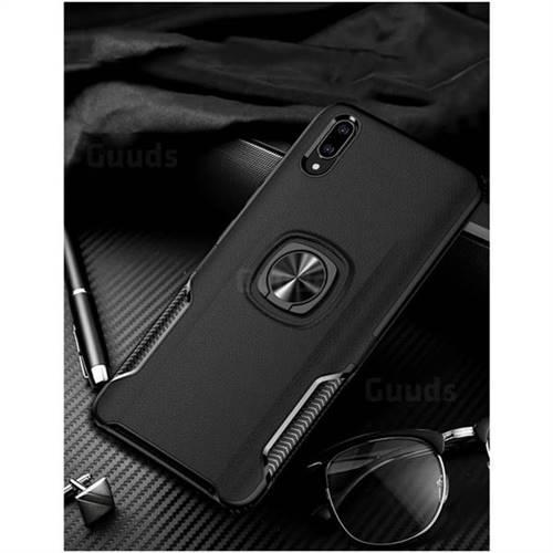 Knight Armor Anti Drop PC + Silicone Invisible Ring Holder Phone Cover for vivo V11 (V11 Pro, Vivo X21s) - Black