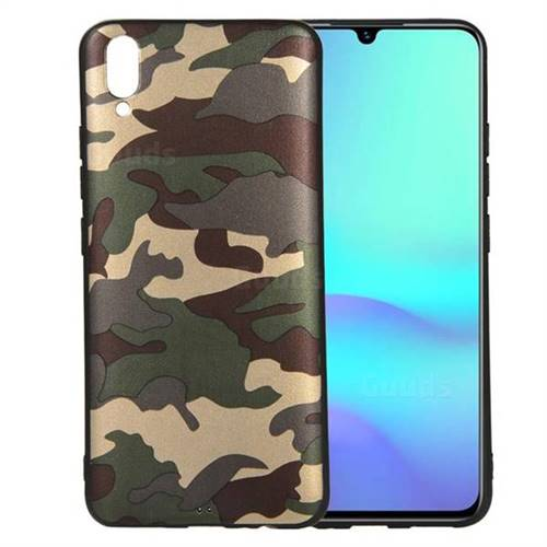 free shipping 8e0c9 e0911 Camouflage Soft TPU Back Cover for vivo V11 (V11 Pro, Vivo X21s) - Gold  Green
