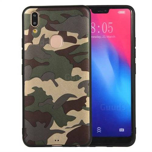official photos d866a c4fe7 Camouflage Soft TPU Back Cover for Vivo V9 - Gold Green