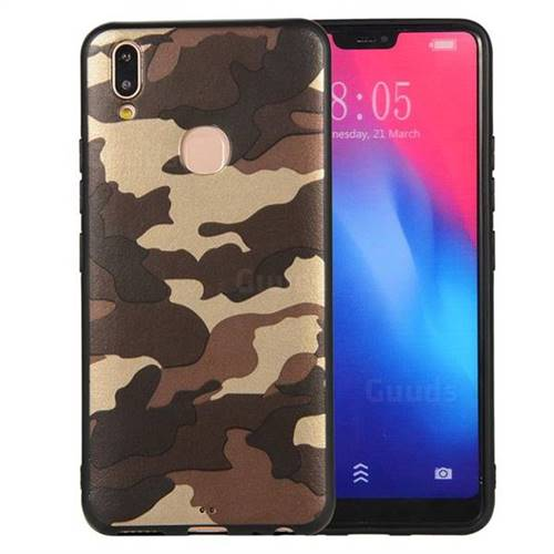 promo code 28c80 b27ed Camouflage Soft TPU Back Cover for Vivo V9 - Gold Coffee