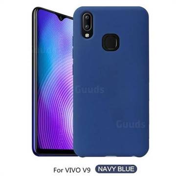 new concept f91bc 2ec8d Howmak Slim Liquid Silicone Rubber Shockproof Phone Case Cover for Vivo V9  - Midnight Blue