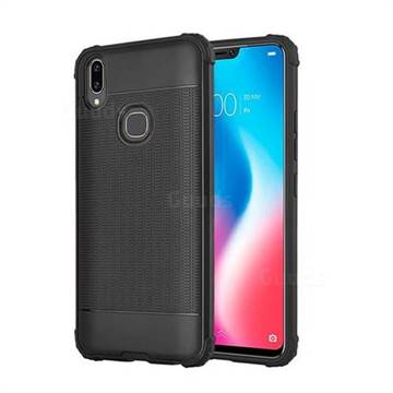 new product d5741 6884c Luxury Shockproof Rubik Cube Texture Silicone TPU Back Cover for Vivo V9 -  Black