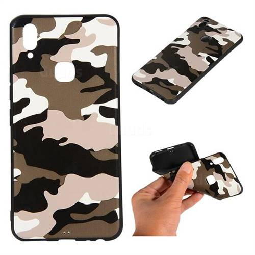 Camouflage Soft TPU Back Cover for vivo Y83 Pro - Black White