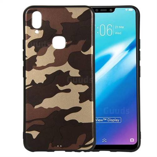 premium selection f9d7e f3014 Camouflage Soft TPU Back Cover for vivo Y83 Pro - Gold Coffee