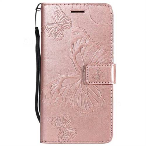 new arrivals 6533f 100c2 Embossing 3D Butterfly Leather Wallet Case for Sony Xperia Z3 - Rose Gold