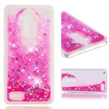 Dynamic Liquid Glitter Quicksand Sequins TPU Phone Case for ZTE Zmax Pro Z981 - Rose